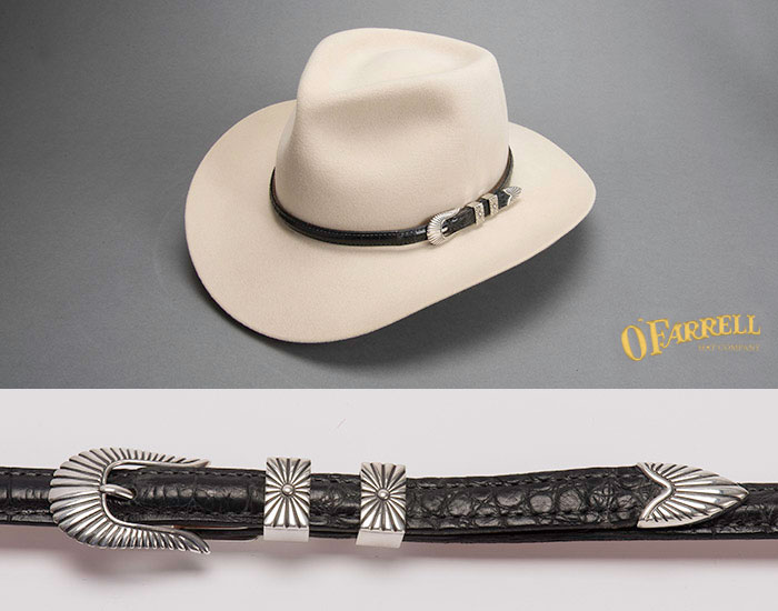 Taylor Sterling Silver Gator Hat Band