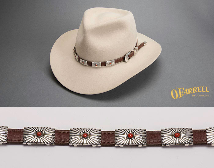 Taylor Sterling Silver Coral Hat Band