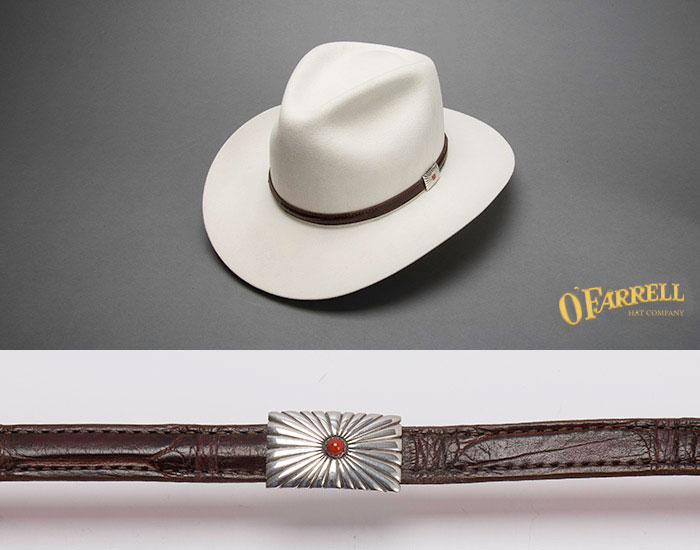 Taylor Single Sterling Silver Coral Gator Hat Band