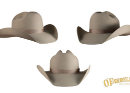 """Cutter  207  Version of the cattleman with spurs and crease height at 4 ½""""  and 4"""" brim. Shown here in silver belly pure beaver felt with hatter s  grosgrain ... 82092a0b416"""