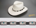 Taylor Sterling Silver Turquoise Hat Band