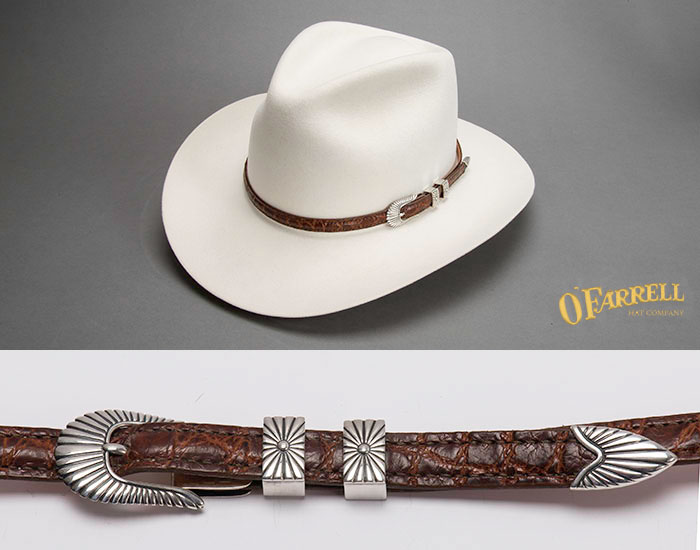 Taylor Sterling Silver Lizard Hat Band