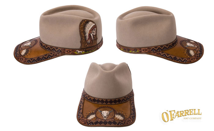Ball Cap with Tooled Detail #100