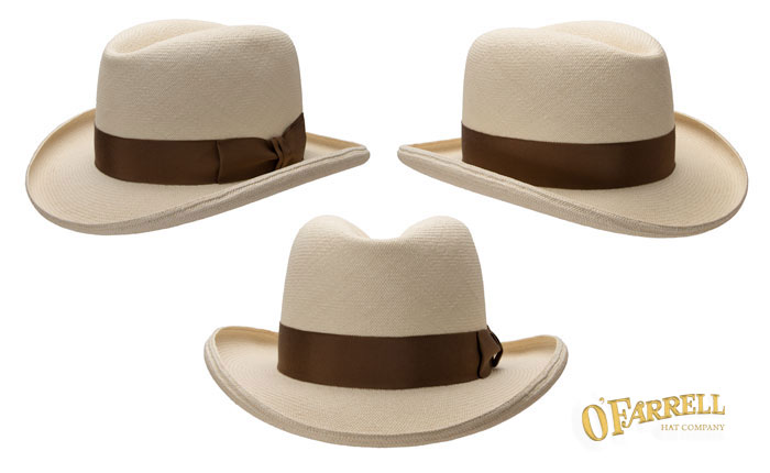 """Homburg  P10   A more western take on a traditional style with 4 ½"""" crease  height and 3"""" pencil curled brim. Shown here in solid pattern woven in the  city ... 4d45fbdc71e"""