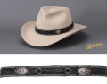 Basket Weave & Conchos Leather Hat Band