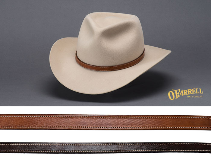 Stitched Leather Hat Bands