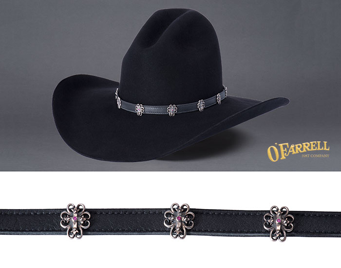 Spirit Cross Garnet Hatband