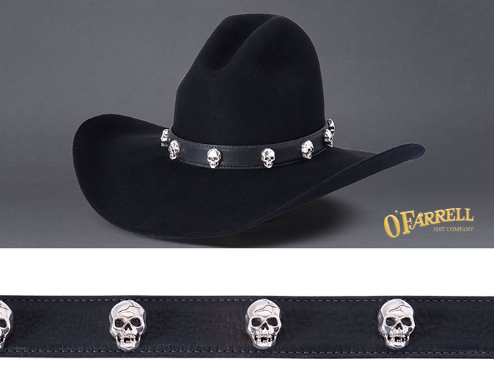 Blacktooth Skulls Hatband