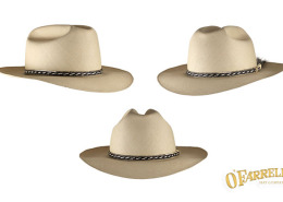 """Open Road  P27   Classic rancher style with crease height at 4 3 8"""" with 3  1 4"""" cup and snap brim. Shown here in a solid fino pattern woven in the  village ... ca5f2583031"""