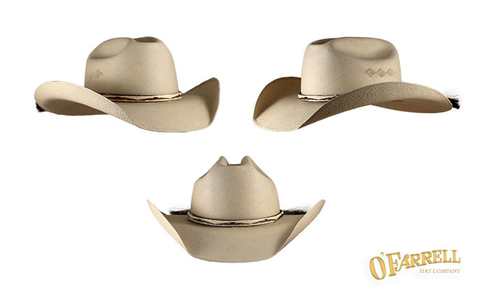 """Cattleman  P3   Classic western style with 4 ½"""" crease height and 4"""" PRO  style brim. Shown here in 89Z pattern woven in the city of Cuenca with  hitched ... d067175fea0"""